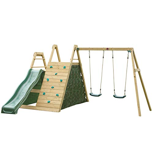 (Plum Climbing Pyramid Wooden Climbing Frame with Swing and Slide Set)