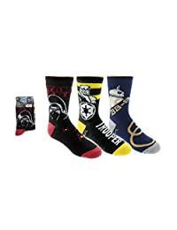 Star Wars Boys BB-8 & Stormtrooper 3-Pack Crew Socks