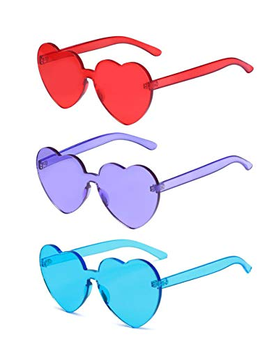 43b7587a80 J L Glasses Fashion Rimless One Piece Clear Lens Color Candy Sunglasses. Tap  to expand
