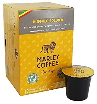 Marley Coffee Buffalo Soldier Dark Roast Coffee, 12 Count