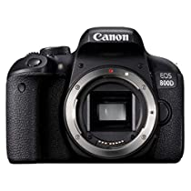 Canon EOS 800D 24.2MP Digital SLR Camera Body  Black  Digital SLR Cameras