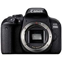 Canon EOS 800D (Body Only) Digital SLR Camera (800DB) - 3 Inch Display, Black (Australian warranty)