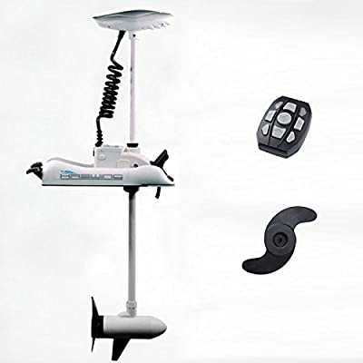 24V 80 lbs Variable Speed Bow Mount Trolling Motor Electric Trolling Motors WHITE