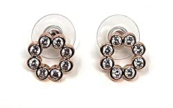 Full Circle Rose Gold Plated Stud Earrings