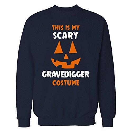 This Is My Scary Gravedigger Costume Halloween Gift - Sweatshirt Navy_blue (Grave Digger Halloween Costume)