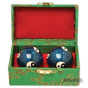 Cloisonne Balls - Yin & Yang Baoding Balls 1 1/2