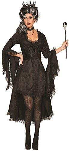 Ladies Wicked Princess Corpse Bride Gothic Corset Dipped Hem Halloween Horror Fancy Dress Costume Outfit ()