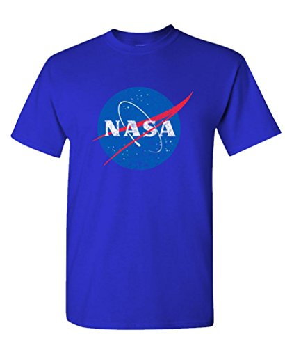 The Goozler NASA Retro Logo Vintage Look Space 80's - Mens Cotton T-Shirt, S, (The 80's Look)