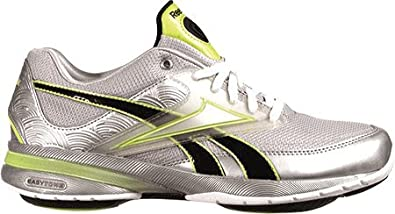 hot sale online d1b2c 25027 Reebok Women s Easytone, White Kiwi Green Black