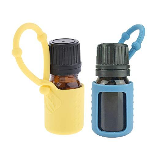 ふくろう不正出費dailymall 詰め替え エッセンシャルボトル 5ml 精油 液体 保存容器 シリコンスリーブ付 携帯便利 2個入