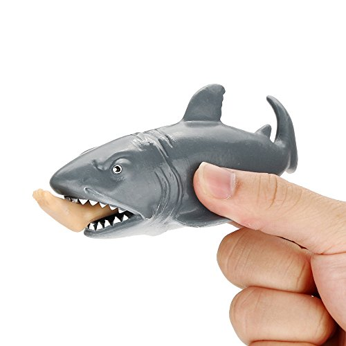 Chicflash 12cm Funny Toy Shark Squeeze Stress Ball Alternative Humorous Light Hearted -