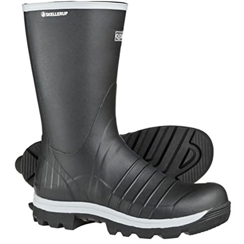"Insulated 13"" Calf Boot Sz8 Black Waterproof Rubber TractorGrip Cleat ()"