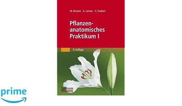 Amazon.com: Pflanzenanatomisches Praktikum I: Zur Einführung in die ...