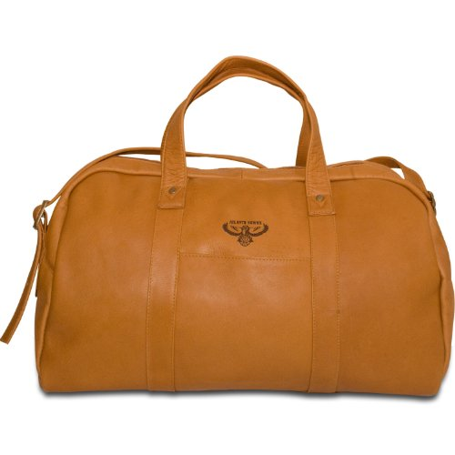 NBA Atlanta Hawks Tan Leather Corey Duffel Bag by Pangea Brands