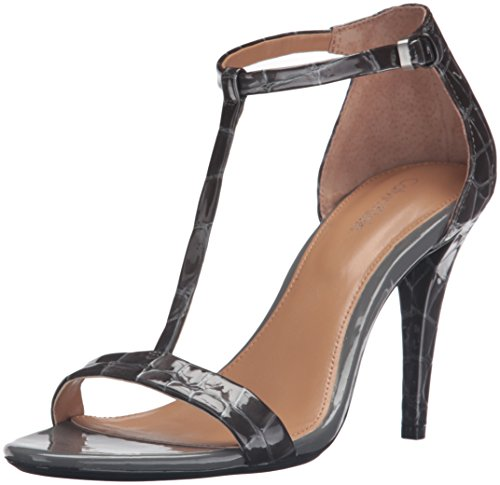Calvin Patent Leather Sandals - Calvin Klein Women's Nasi Dress Sandal, Shadow Grey Croco Patent, 8 M US