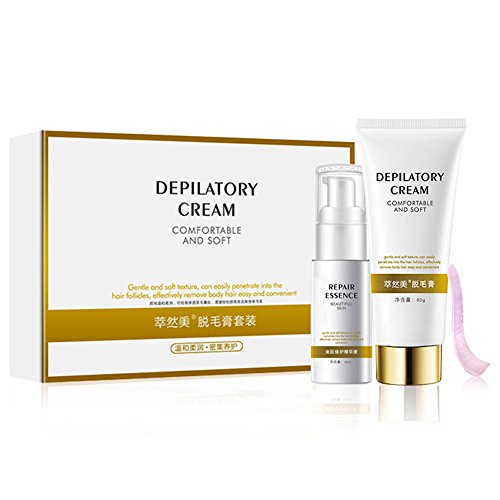 Unisex Safe Painless Hair Removal Cream Depilatory Set for Arm Armpit Legs Body Suitable for All Kinds Skin