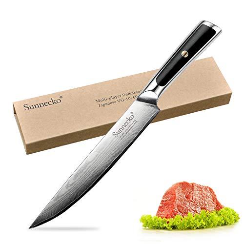 Fillet Knife - Sunnecko 8inch Pro Boning Carving Knife Damascus Steel with Ergonomic Handle