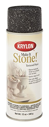 Krylon 18212 Make It Stone Textured Spray Paint Obsidian Pack of 6