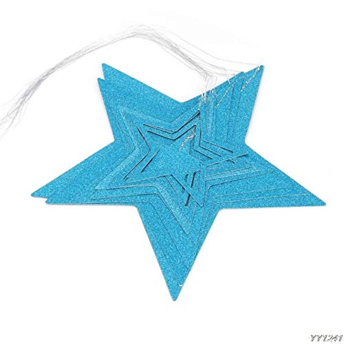 (Banners, Streamers & Confetti - Glitter Garland Hanging Twinkle Hollowed Star Banner Wedding Party Decoratio Y110 - Girls Holiday String Stands Someone Sanctuary Decor Sports Educativos Fi)