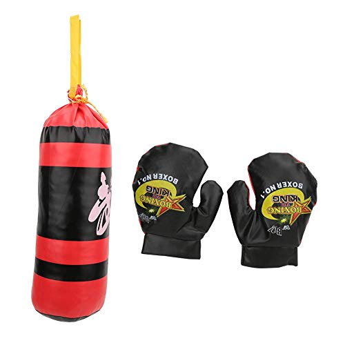 Kids Boxing Punching Bag, Hanging Sandbag with Child Boxing Gloves Punch Training Gloves Fight Mitts Toy Set for Kid…