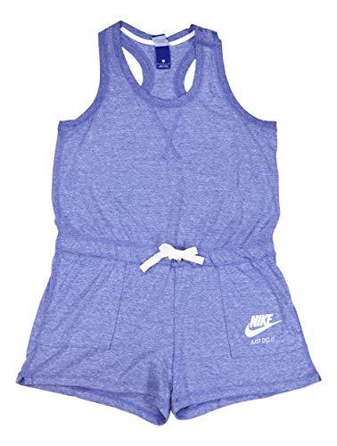 Nike Sportswear Women's Vintage Style Gym Romper (Large, Purple Slate)