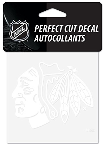 - WinCraft NHL Chicago Blackhawks 4x4 Perfect Cut White Decal, One Size, Team Color