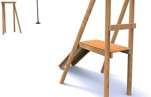 kidunivers – Juego de tirolesa 15 m, homologado estuco en madera maciza Dès 5 años: Amazon.es: Jardín