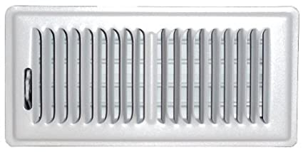 Speedi-Grille SG-610 CW3 6-Inch by 10-Inch White Ceiling//Sidewall Vent Register