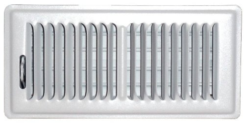Speedi-Grille SG-410 FLW 4-Inch by 10-Inch White Floor Vent Register with 2 Way Deflection by Speedi-Grille