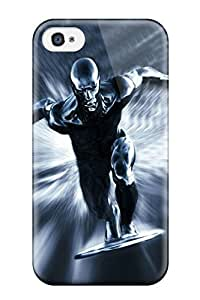 For ZippyDoritEduard Iphone Protective Case, High Quality For Iphone 4/4s Silver Surfer Skin Case Cover