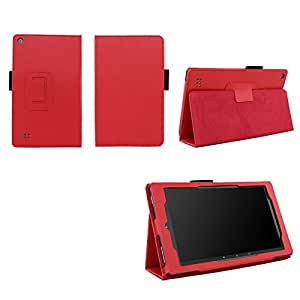 Case for Kindle Fire 7 Inch Tablet - Folio Case with Stand for Kindle Fire 7 Inch Tablet - Red