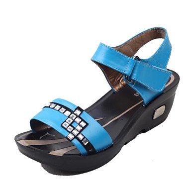 SHOES-XJIH&Uomini sandali suole di luce PU esterna di estate a monte le scarpe tacco basso marrone scuro blu scuro nero sotto 1a,blu scuro,noi8.5-9 / EU41 / UK7.5-8 / CN42