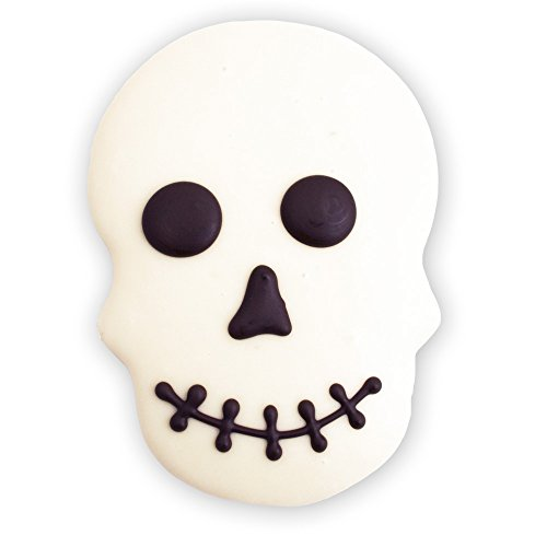 Decorated Sugar Cookies - Halloween Skull Cookie - by Merlino Baking Co. (12 Pack) (Halloween Cut Out Sugar Cookie Recipe)