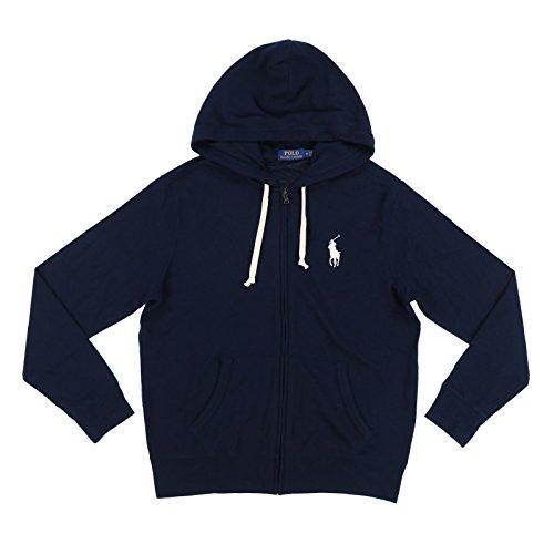Polo Ralph Lauren Mens Terry Cloth Hoodie (XXL, Aviator Navy)