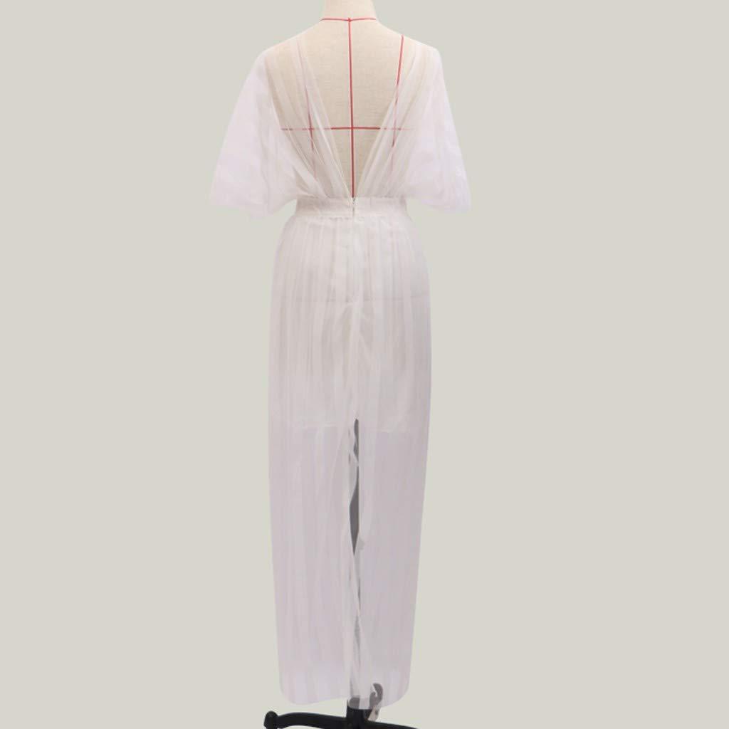 SMILEQ Vestido de Mujer Moda Vintage Backless Tube Top Elegante ...