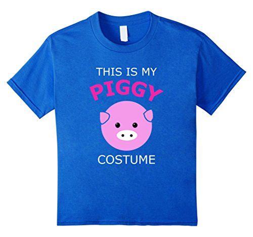 [Kids This is My Piggy Costume Pig T Shirt 8 Royal Blue] (Pig Costume Amazon)