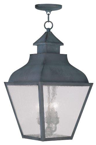 Livex Lighting 2456-61 Vernon 3-Light Outdoor Hanging Lantern, Charcoal -