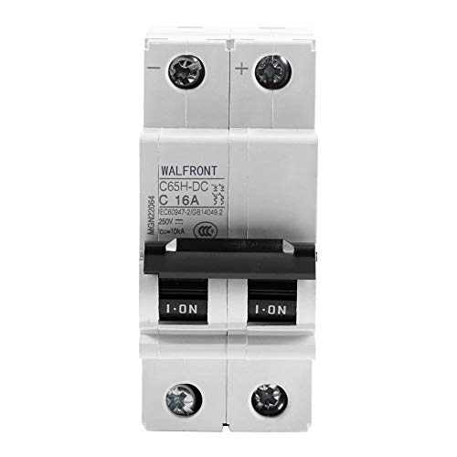 2P 250V Low-voltage DC Miniature Circuit Breaker For Solar Panels Grid System Din Rail Mount 16A