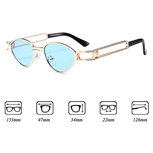 Steampunk Femme Retro Lunettes Sunglasses UV400 Metal Box de WEIMEITE C5 soleil CCwS0qO