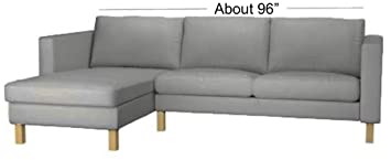 Sofa Cover Only! The Karlstad Loveseat (Two Seat)  Sofa with Chaise Lounge Sectional Cover Replacement Is Custom Made For Ikea Karlstad Slipcovers ...