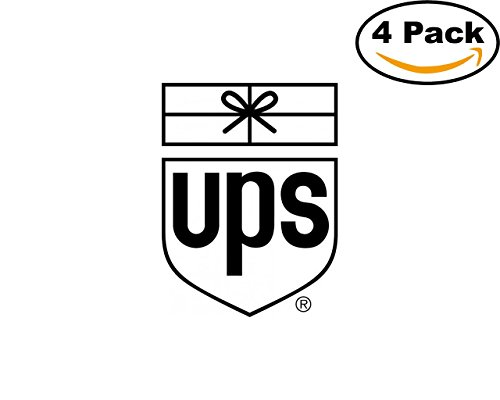 Airlines United Parcel Service Airlines Logo 4 Stickers 4X4 Inches Car Bumper Window Sticker Decal