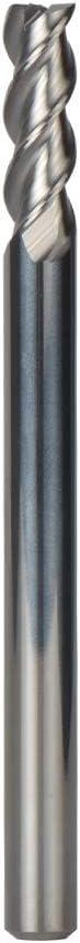 SpeTool Fresa Espiral de Cabeza Cuadrada Cortador Profesional de CNC Herramientas 3 Flautas, Di/ámetro del V/ástago 4 mm,Corte 4 mm x 12 mm