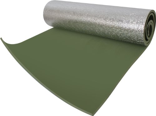 Rothco Thermal Reflective Olive Drab Sleeping Pad with Ties