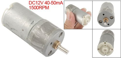 Amazon.com: DealMux 25 milímetros DC 12V 40-50mA 1500RPM Torque Voltada Box Motor: Automotive