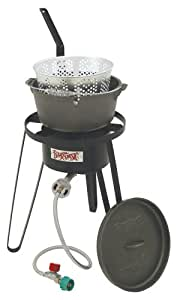 Bayou classic b159 outdoor fish cooker with for Fish fryer pot