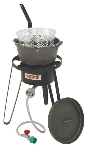 Bayou Classic B159, Outdoor Fish Cooker with Cast Iron Fry Pot by Bayou Classic