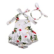 PrinceSasa Cute Newborn Girl Clothes Rompers White Infant Dress,white5,7-12 Months(Size M)