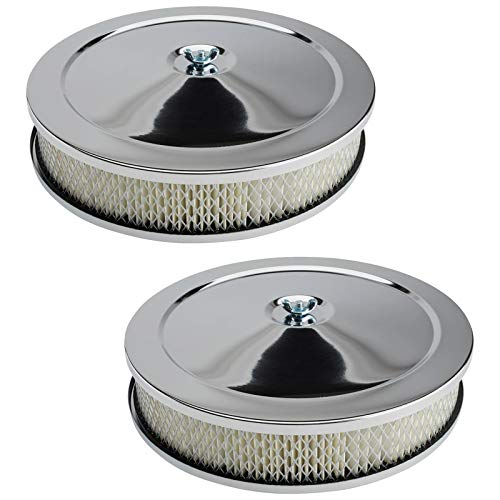 10″ Chrome Air Cleaner Assembly, 2 Barrel Carb, 2-Pack