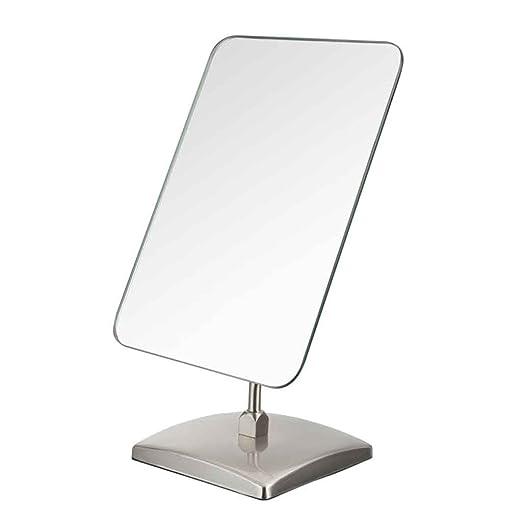 Mesa cuadrada de maquillaje Espejo Mostrador Espejo Acero ...