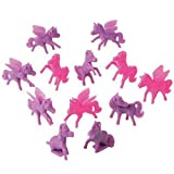 Pony Mini Cupcake Toppers, Pink and Purple (Set of 12), 2'',